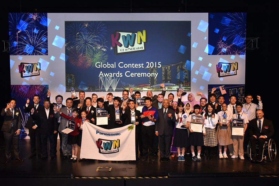 دانش آموزان تایلندی برنده جایزه بزرگ مسابقات جهانی KWN 2015 پاناسونیک