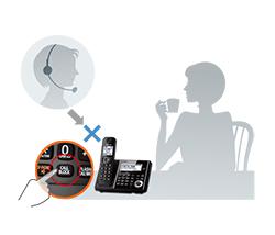 تلفن بی سیم مدل KX-TGF340-342