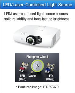 سیستم نوری دو/چهار لامپ و یا منبع نور ترکیبی LED-Laser