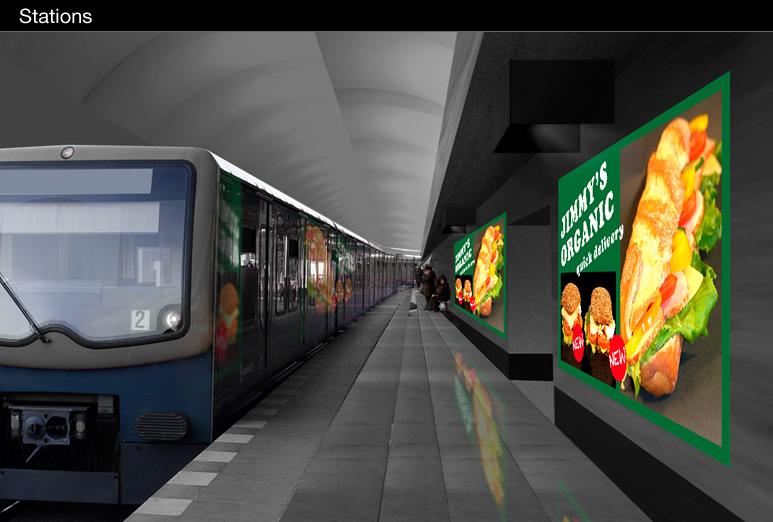 راهكار استفاده از ويدئو پروژكتور پاناسونيك در ايستگاه هاي مترو