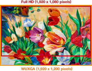 Full HD و کیفیت بالا WUXGA